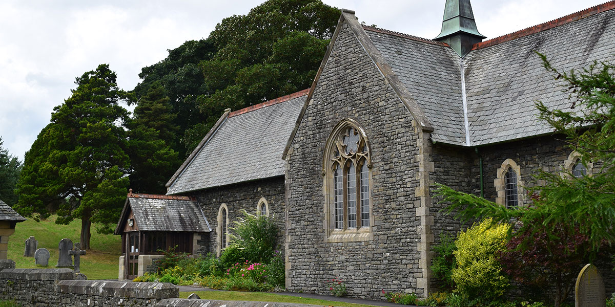Crosscarke Church in beautiful rural Cumbrian countryside