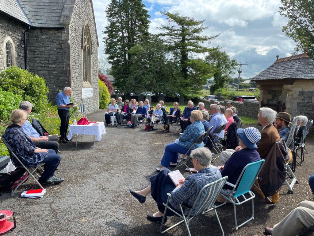 Crosscrake Church outdoor service